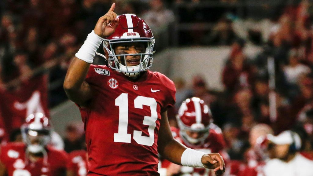 Are the Dolphins targeting Alabama QB Tua Tagovailoa © Butch Dill / USA TODAY sports