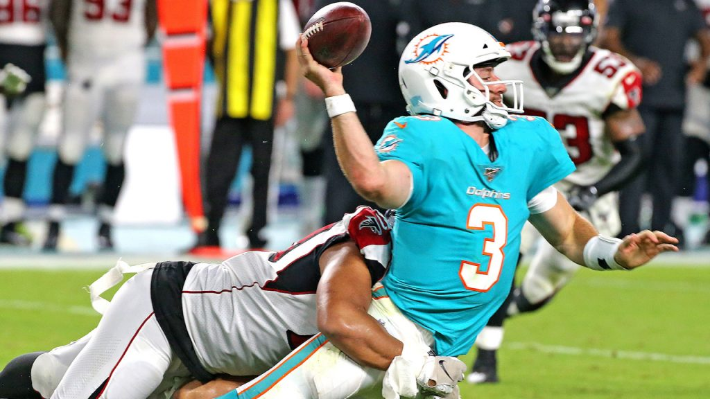 Josh Rosen struggled at times in pre season in 2019