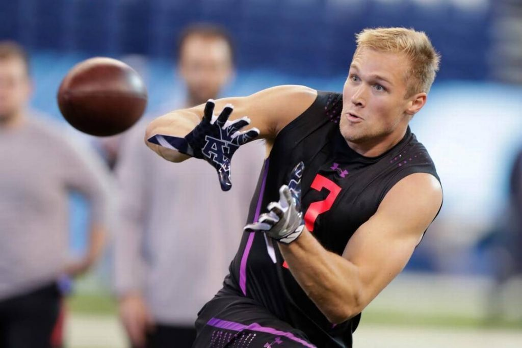 Mike Gesicki was a star of the 2018 NFL Scouting Combine. Credit - centredaily.com