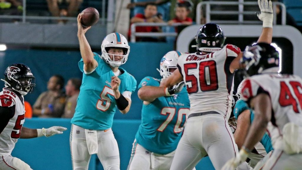 Jake Ruddock has seen very limited action in the NFL © Miami Herald