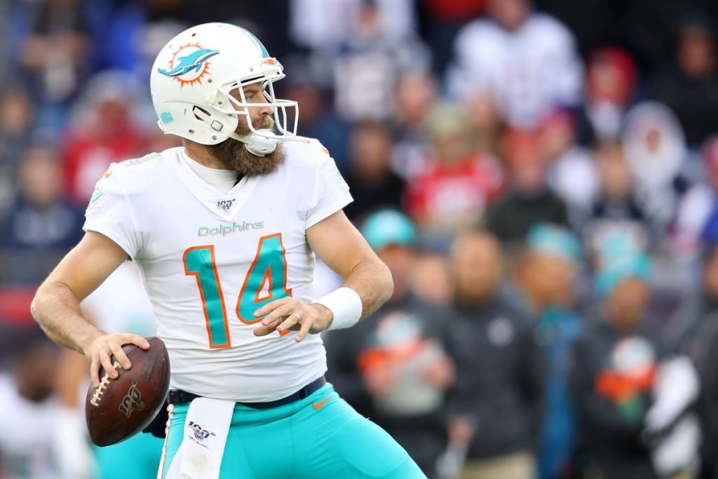 2020 Quarterbacks: starter Ryan Fitzpatrick © Maddie Meyer/Getty Images