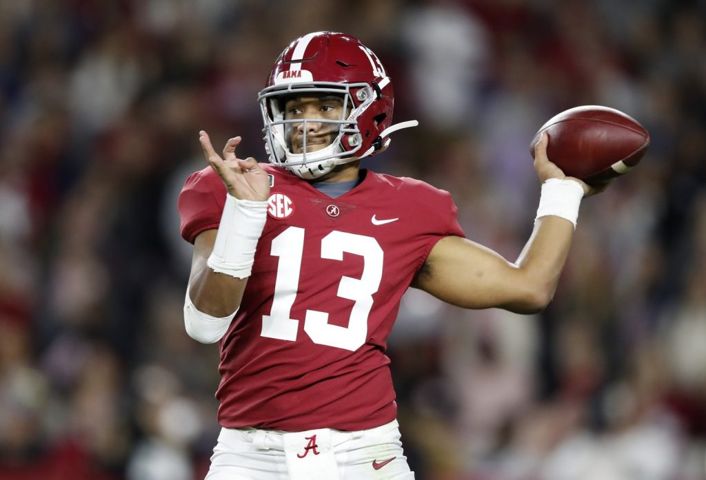 Tua Tagovailoa gets to sit and watch the 2020 Dolphins...and take over in 2021 © Todd Kirkland