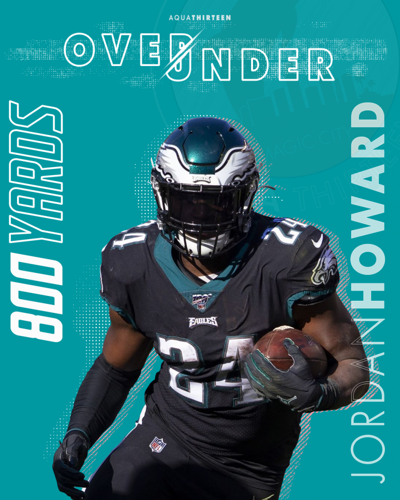 We've set the over/under for Jordan Howard at 800 yards in 2020, but what do you think?