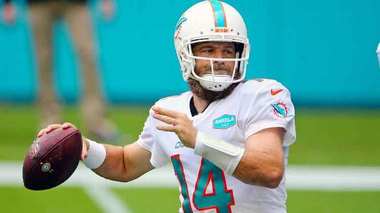 Ryan Fitzpatrick joined the Miami Dolphins in the 2019 off season.