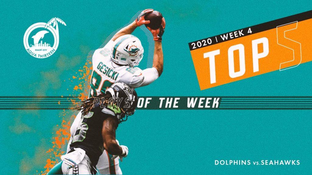 Dolphins plays of the week : week 4 2020