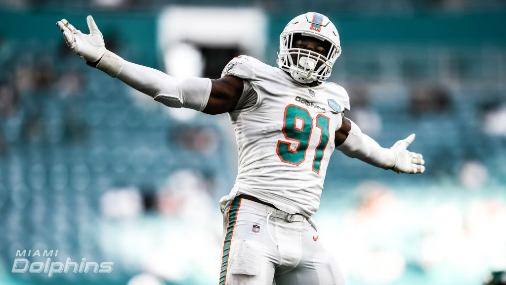 Emmanuel Ogbah had another monster game as the Dolphins thrash the Jets