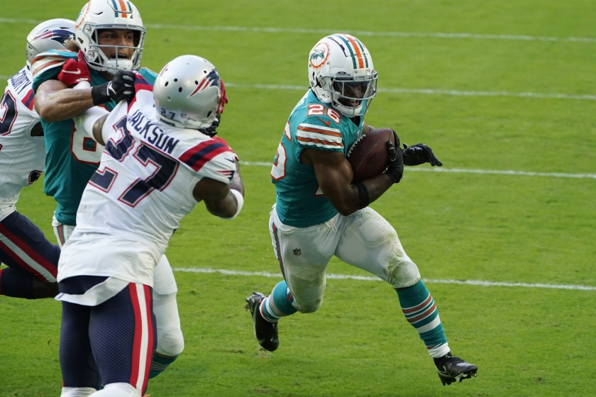 Dolphins @ Las Vegas Raiders preview: Salvon Ahmed is starting to look the part