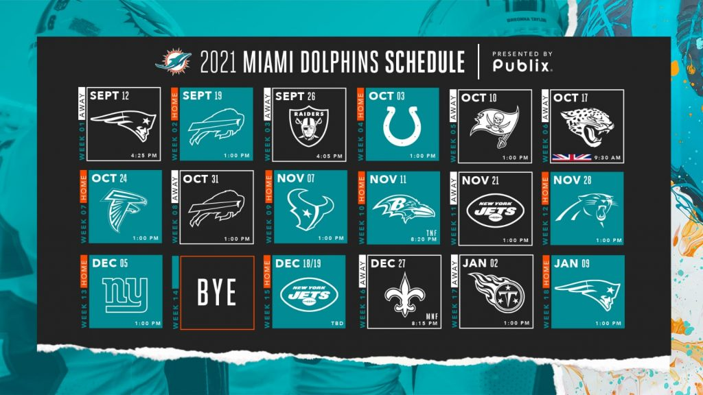Miami Dolphins 2021 predictions schedule in full